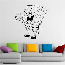 Губка Боб <b>Наклейка</b> на стену квадратные штаны виниловая ...
