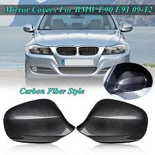 1 <b>Pair Rearview</b> Mirror Case For BMW E90 E91 2009 2010 2011 ...