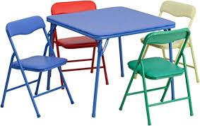 Flash Furniture Kids Colorful 5 Piece Folding Table ... - Amazon.com