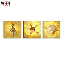 Online <b>Shop</b> 3 Piece Art Sets Conch, Shells And Starfish Wall ...