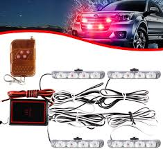 <b>4x4 LED 4 in 1</b> Strobe Warning Light DC12V Emergency Flashing ...