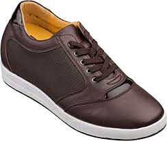 TOTO <b>Men's</b> Invisible Height Increasing Elevator Shoes - Dark ...