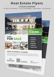 professional real estate flyer templates corporate real estate flyer