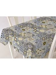 <b>Скатерть ALBA</b> Мозаика син. 140х180 см Protec Textil 4782896 в ...