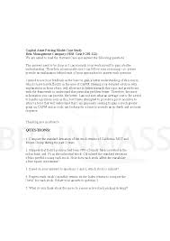 case study on capm beta management company beta management company doc middot capm doc