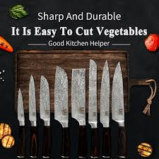 <b>XYj High Scale</b> Stainless Steel Kitchen Knive Set Chef Slicer Bread ...