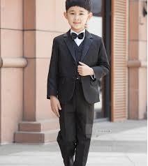 <b>2015 New Fashion</b> Kids <b>Boy</b> Suit Black <b>Boy</b> Wedding Suit Formal ...