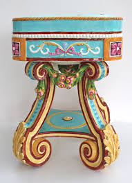 """<b>Rubens</b>"" Garden Seat with cheerful Rococo design by Wedgwood ..."