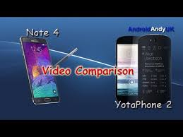 Samsung Galaxy Note 4 v YotaPhone 2 1080p HD Video Comparison