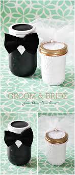 jar crafts home easy diy: mason jar crafts diy groom and bride jars at thethavenuecom cutest wedding gift