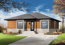 House plan W  V detail from DrummondHousePlans comfront   BASE MODEL Small Affordable modern house plan   open floor plan concept  unfinished