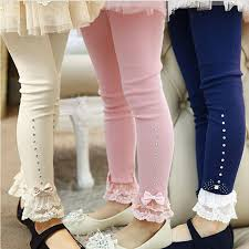 Sweet <b>girls</b> lace <b>legging autumn winter</b> cotton diamond design long ...