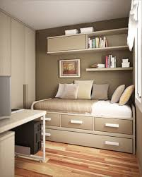 brown color combination of small bedroom bedroom office combination