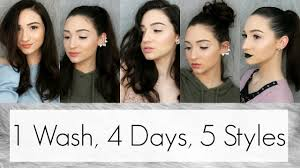 How I Style <b>My 1st</b>, <b>2nd</b>, 3rd & 4th Day Hair    5 Cute Hairstyles For ...