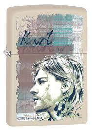 <b>Зажигалка Zippo Kurt Cobain</b> с покрытием Cream Matte 29051 ...