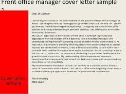 front office manager cover letter cover letter front desk