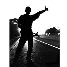 Resultado de imagen para man hitchhiking at night