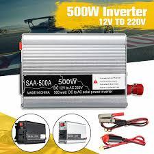 Portable 500W DC 12V to <b>AC</b> 220V USB Car Power Inverter ...