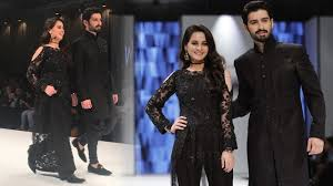 aiman khan and muneeb butt walked for nuaman arfeen at fpw aiman khan and muneeb butt walked for nuaman arfeen at fpw17