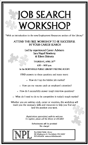 public library offers job search workshop job search poster jpg