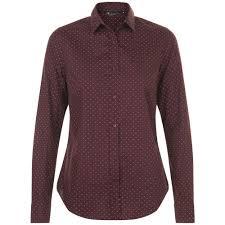 <b>Рубашка</b> женская <b>BECKER</b> WOMEN, бордовая с белым, размер M