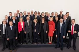 ecb annual report on supervisory activities first row front row from left to right alexander demarco jouni timonen cyril roux antónio varela second row from left to right andreas dombret