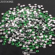 <b>ZOTOONE FlatBack</b> Resin Nail Art <b>Non HotFix</b> Deep Green ...