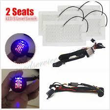 <b>Car</b> 4 Pads 2 Seat Carbon Fiber Seat Heater Cushion LED 5 Level ...