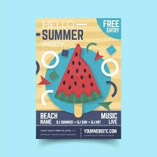 Free Vector | <b>Flat</b> design <b>watermelon</b> ice cream poster