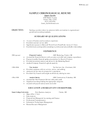 resume format chronological resume format chronological    resume format chronological