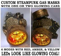 Glowing <b>Steampunk Gas Mask</b> Light Up LED Bronze Cosplay ...