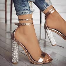 <b>Sexy</b> High <b>Heels Women Pumps</b> Gold Rhinestone <b>Heels</b> Ladies ...