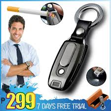 USB <b>Metal Lighter Zippo</b> Style Car Key Flashlight <b>Keychain Lighter</b> ...