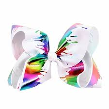 "Details about 7"" <b>Graffiti</b> Hair <b>Bow</b> w Clip <b>Ribbon</b> JoJo Princess ..."