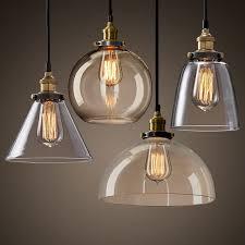 <b>Retro Pendant</b> Lighting Glass Shade <b>Vintage</b> Industrial Glass <b>Loft</b> ...