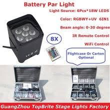 4pcs battery powered led par light truss rgbw quad color