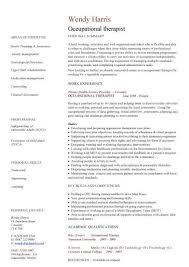 Sample Resume Occupational Therapy Personal Statement  physical