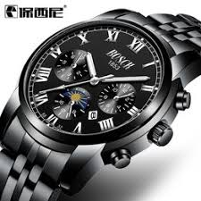 New steel belt fashion business waterproof watch men's ... - Vova