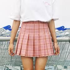 Women Kawaii Skirt Harajuku Plaid Preppy Style Pleated Skirts ...