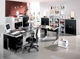 modern home office awesome black and white theme modern home office furniture with l shape black middot office