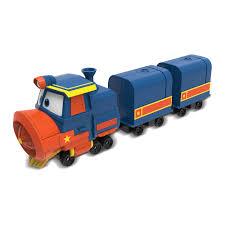 Набор <b>Silverlit Robot trains</b> Паровозик Виктор с двумя вагонами ...