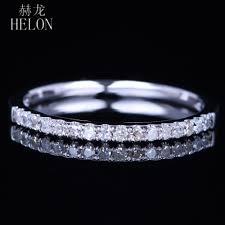 <b>helon</b> solid 10k white gold pave natural diamonds sparkled <b>wedding</b> ...
