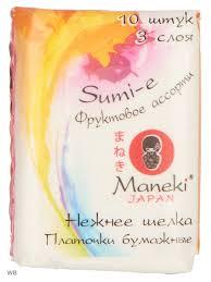 <b>Платочки бумажные Sumi</b>-<b>e</b> трехслойные <b>Maneki</b> 8030627 в ...