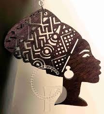 Beautiful <b>laser</b> cut <b>wooden</b> Afro head wrap silhouette earrings Africa ...