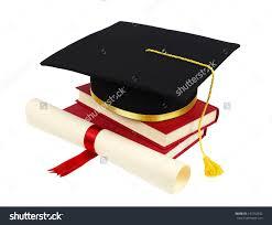 graduation cap books diploma isolated on stock photo  graduation cap books and diploma isolated on white background