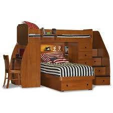 twin sized bunk over full bunk bed with stairs and desk bunk beds desk