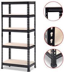 Heavy Duty 5 Layer Wire Shelving Rack Adjustable Shelf Storage ...