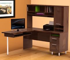 office corner desk modern dark brown varnish cherry amazing wood office desk