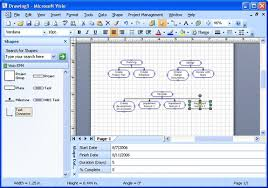 integrating visio and project completed wbs diagram