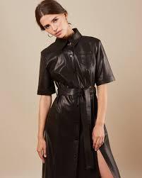 <b>Платье</b> кожаное на кнопках в интернет-магазине — <b>12Storeez</b>
